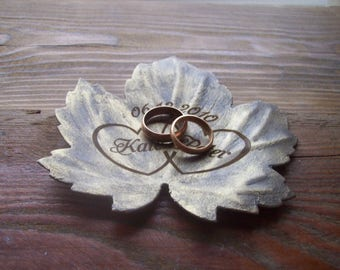 ring holder / jewelry holder / ring dish / Personalized Ring Dish / 6th  anniversary gift / ring bearer / wedding gift /