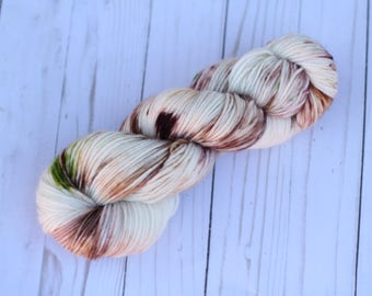 Sam, READY TO SHIP, dk, hand dyed yarn, single ply, speckled,Lord of the Rings
