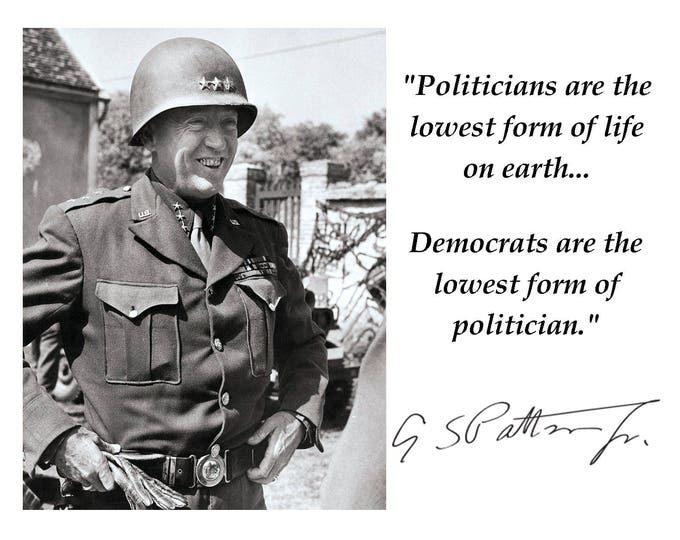 General George S. Patton Quote with Facsimile Autograph - 8X10 or 11X14 Photo (PQ-015)