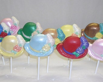 Chocolate Ladies Hat Lollipops