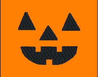 Halloween Jackolantern Pumpkin Face Embroidery Pattern Design