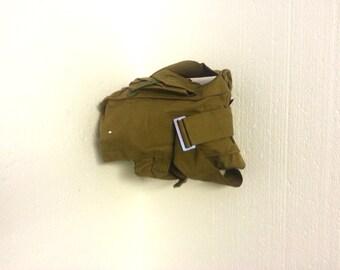 Vintage military bag Gas mask bag Retro canvas bag Soviet army bag Vintage soviet bag Made in USSR Military shoulder bag Green bag New bag
