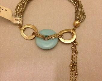 Vintage Santorini Bead and Stone Bracelet