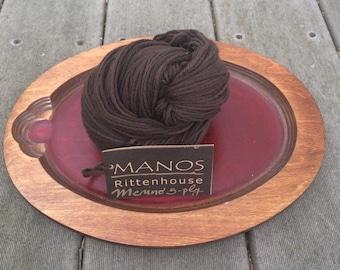 Manos del Uruguay Rittenhouse Fine Merino wool yarn 507 Brown 1 skein