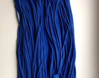 Royal Blue T-shirt Yarn from Upcycled cotton T-shirt