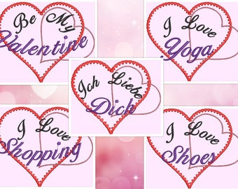 "Embroidery file for ""Everything we love!"""