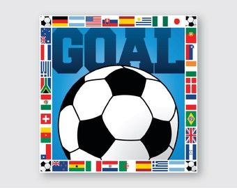 Soccer Wooden Wall Art