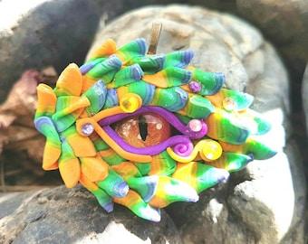 Green and Yellow Dragon Eye Pendant