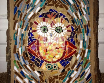 SOLD - Owl Mosaic