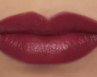 "Vegan Lipstick - ""Magnolia"" dark berry pink mineral makeup"