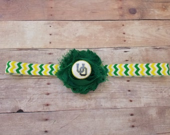University of Oregon headband-Oregon headband-oregon ducks for girl-Ducks headband-Oregon baby gift/girl oregon/newborn oregon/ou baby