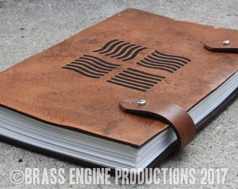 Elements Sketch Journal 6x9 - 120 pages - Hand Bound - Laser Etched - Briar Brown - Fifth Element