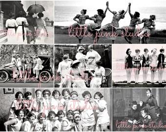 Girl Power!,   Printable Collage Sheet (digital download, printable)