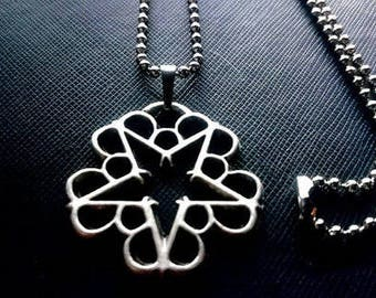 Black Veil Brides Necklace 925 Silver Plated Free Shipping
