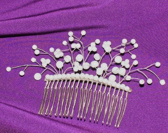 Bridal hair comb, wedding hair comb, bridal headpiece, flower hair comb, wedding hair piece, pearl hair comb, pearl hair piece, bridal comb