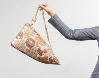 THE OBI-LISK - back bag by mitzii, shoulder bag, kimono bag, obi