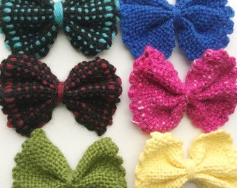 Large hair bow, handwoven - CLEARANCE!