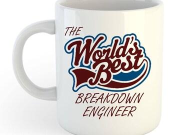 The Worlds Best Breakdown Engineer Mug