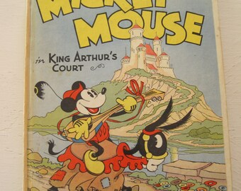 Mickey Mouse in King Arthur's Court Pop-Up Book 1933 First Edition Walt Disney Enterprises
