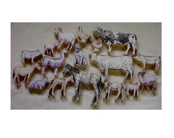 farm animals wood cutouts