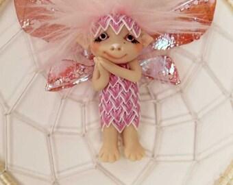 Dreamcatcher fairy fae faerie troll gnome ooak art doll fantasy sculpture