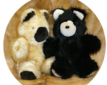 Glacier Wear Dyed Beaver Fur Teddy Bears bvr1205