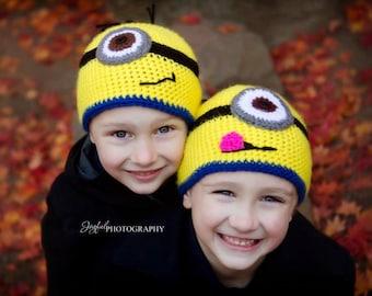 Bonneterie de petits hommes jaunes Beanie 3 t-adulte