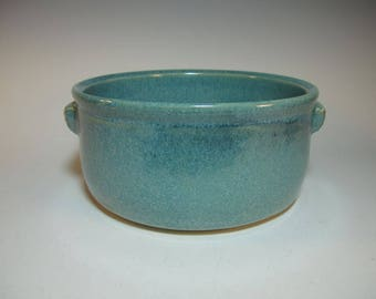 Casserole Serving Baking Dish Large Aqua with Textured Handles