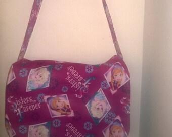 Frozen-Inspired Sisters Forever Messenger / Cross Body, Book Bag