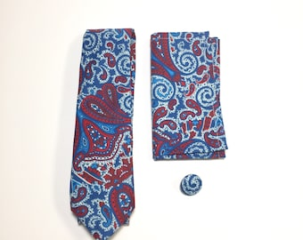 Blue and Red Paisley Gift Pack