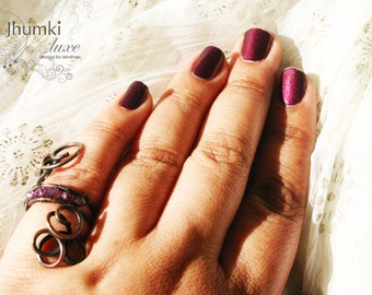 Trupla /// a cocktail Ring by Jhumki Luxe - designs by raindrops