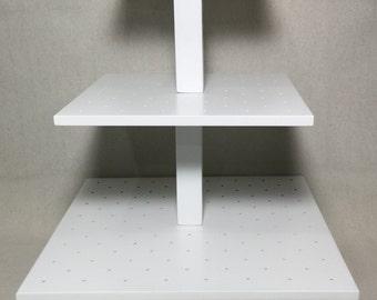 3 Tier  Square Custom Made Cake Pop Stand. Holds 188 Cake Pops.