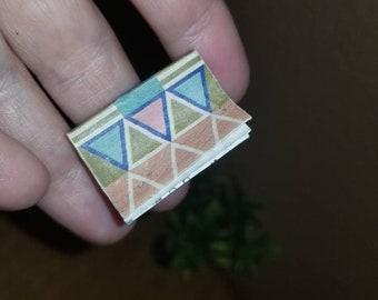 "Miniature Worn Look ""Used"" Paperback Book"