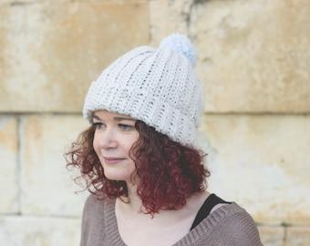 Hand crocheted wool hat