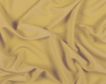 Gold Matte Jersey, Fabric By The Yard