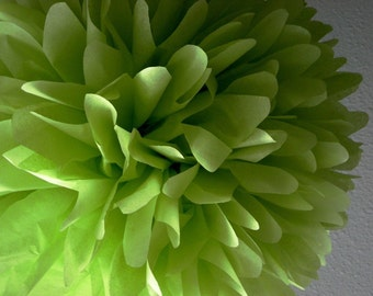CHARTREUSE tissue paper pompom greenery spring wedding decorations aisle chair marker ceremony twin neutral baby shower woodland forest boho