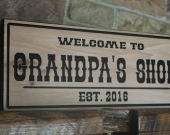 custom wood signs, rustic wall decor, personalized sign, mens gift, rustic signs, hand carved wood wall art, kitchen sign, workshop sign