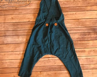 blue Linen onepiece romper for boys and girls