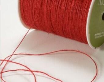 Ficelle Rouge rustique - chaîne de Jute