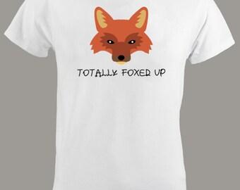 Men's Fox T Shirt - Foxed Up T Shirt - Men Clothing - Adult - Tees - Fluent Sarcasm