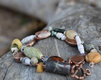 Earthy boho inspired bracelet