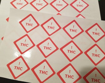 THC Warning Label 24ct
