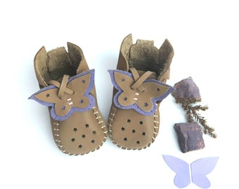 Butterfly Wings Leather Baby Shoes & Moccs