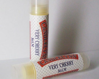 Very Cherry Lip Balm by Candle Lynn - Made with Organic Shea and Cocoa Butters
