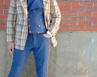Seersucker Sports Jackets---Unstructured Blazer---Editions36