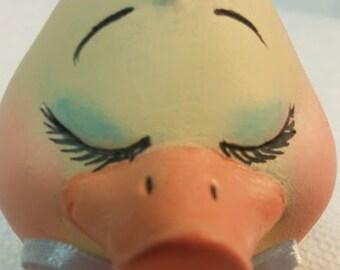 """Ceramic Duck """"Eggs-Pression"""""""