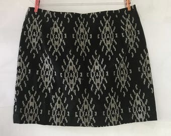 French Eyes Tapestry Mini Skirt