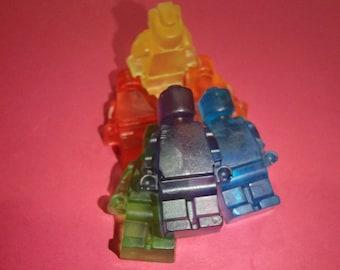 Rainbow Mini Figurine Shaped Glycerin Soap Set