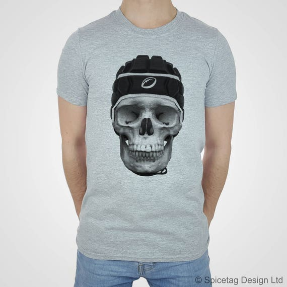 Rugby Skull T-shirt Skeleton Tshirt Scrum Cap Top Dead Grand Slam Shirt Tee  Fashion Womens Mens Wales England Ireland Italy France Scotland