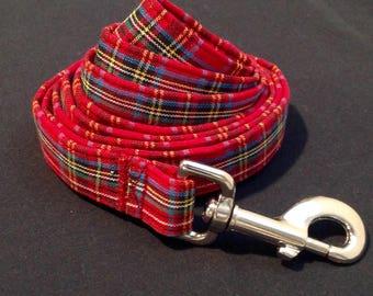 Dog leash - Red Tartan